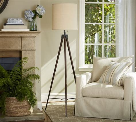 Pottery Barn Lamp Base by Gibson Statement Tripod Floor Lamp Pottery Barn