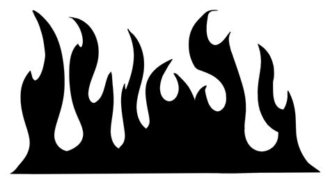 flame patterns stencils clipart    clipartmag