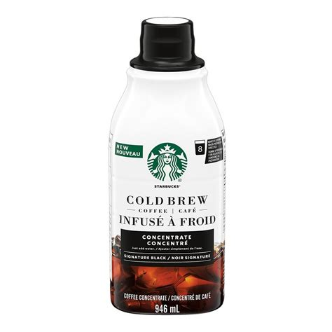 According to the nutrition facts listed on the starbucks website, a grande cold brew contains 205 mg of caffeine, compared to 165 mg of caffeine in a grande iced coffee. Starbucks Cold Brew Coffee Concentrate - Signature Black - 946ml   London Drugs