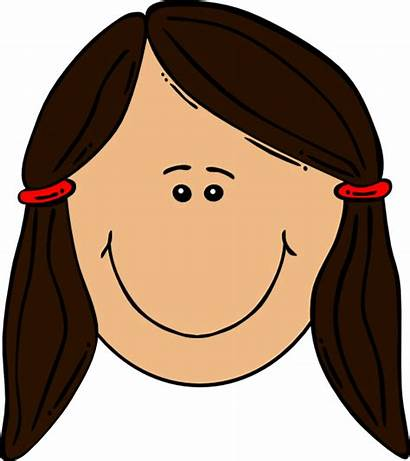 Brown Clipart Cartoon Clip Dark Smiling Haired