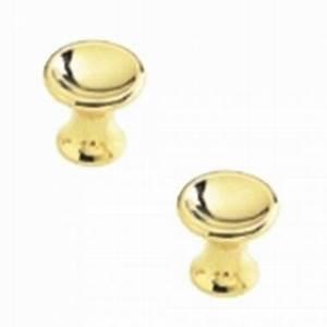Bouton De Meuble Design : lot de 2 boutons de porte ou tiroir de meuble design en plastique dor brillant 25mm cuvette ~ Teatrodelosmanantiales.com Idées de Décoration