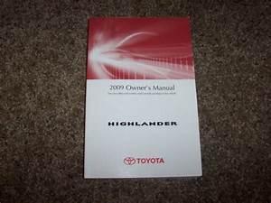 2009 Toyota Highlander Owner Owner U0026 39 S User Guide Manual