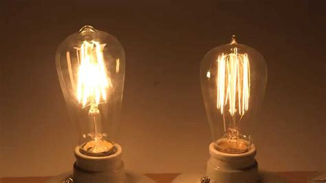 energy saving with led filament bulbs comparison with