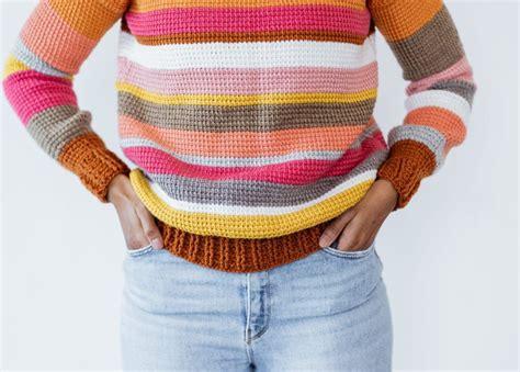 sedona sweater  tunisian crochet pullover pattern