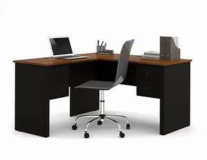 Bureau en l. bureau compact 180 cm pro m tal avec caisson m tallique