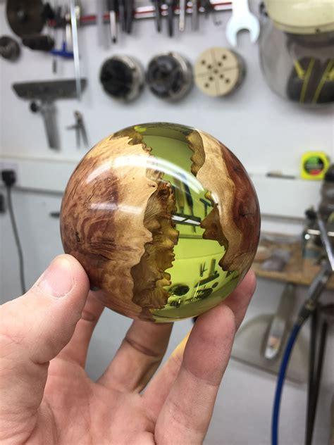 hybrid sphere   george watkins wood turning wood