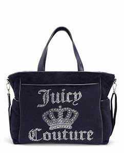 Juicy couture Juicy Crown Velour Baby Bag in Blue | Lyst