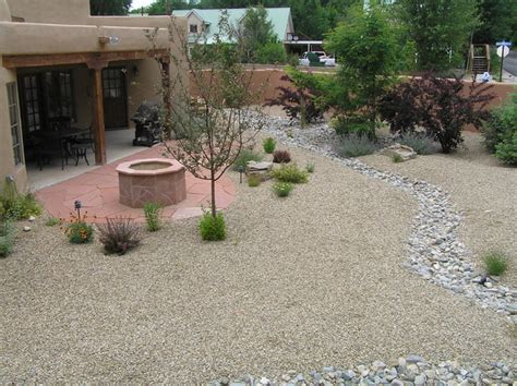 xeriscape backyard xeriscape backyard w flagstone fire pit dry river bed for drainage control landscape