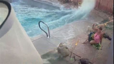 womans pool turns  mini tsunami  california