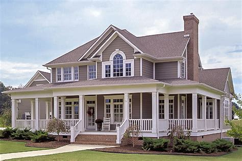 Country Home Plans Wrap Around Porch country farmhouse with wrap around porch 16804wg