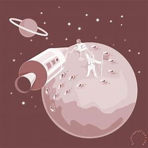 Collection 10 Astronaut Landing On Moon retro painting ...