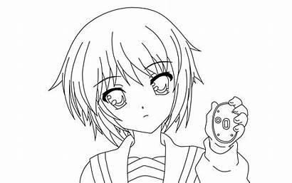 Coloring Manga Ausmalbilder Nagato Yuki Deviantart Zum