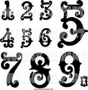 Vintage Number Clipart - Clipart Suggest