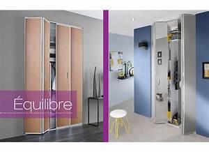 Porte Pliante Sur Mesure : portes pliantes equilibre rangements ~ Dailycaller-alerts.com Idées de Décoration