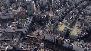 Aerial View Sumida River Bridges Tokyo City Elevated ...