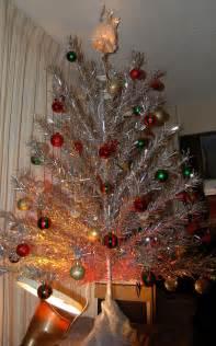 a burning designer retro christmas tree
