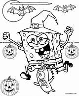 Spongebob Coloring Pages Halloween Printable Cool2bkids sketch template