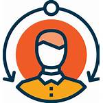 Icon Client Service Customer User Manager Support