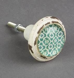 Bouton De Meuble Vintage : bouton de meuble marrakech vert boutons ~ Melissatoandfro.com Idées de Décoration