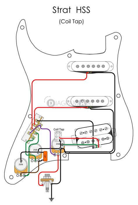 Electric Guitar Wiring Strat Hss Coil Tap