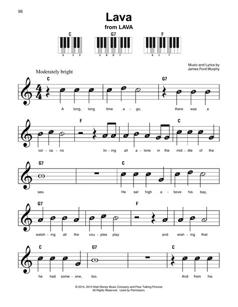 Lava Sheet Music By James Ford Murphy (super Easy Piano