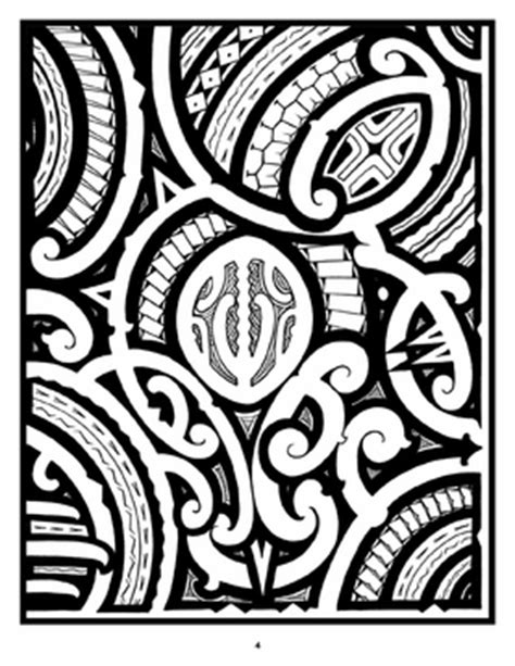Tattoo: A Coloring Book of Polynesian Art by Anthony J