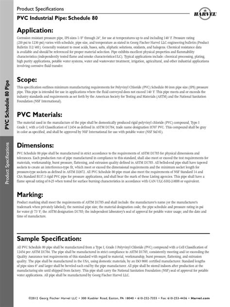 Specifications-PVC_Pipe-Sch80.pdf | Pipe (Fluid Conveyance