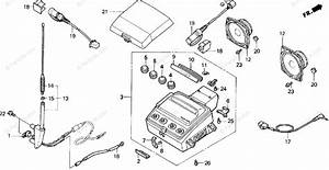 Honda Motorcycle 1994 Oem Parts Diagram For Radio