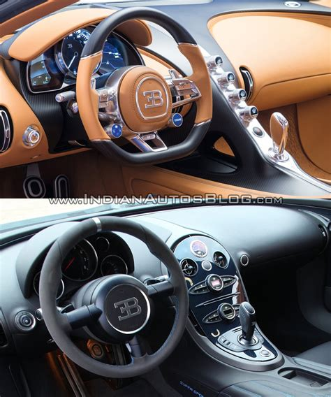 The bugatti chiron is the successor the the legendary bugatti veyron, a car that has held the record for worlds fastest production car.bugatti chiron uses a. Bugatti Chiron vs. Bugatti Veyron interior dashboard