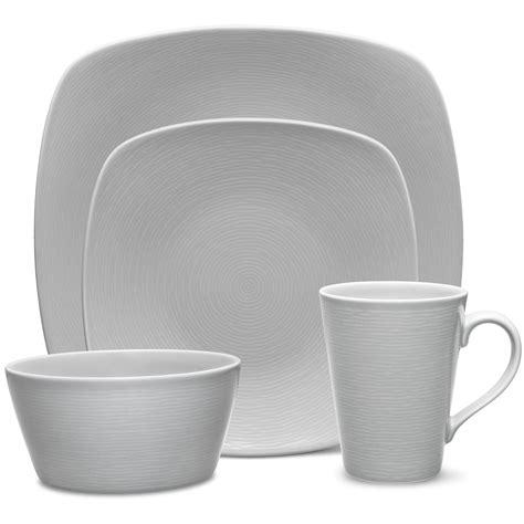 grey swirl noritake noritakechina sold dinnerware square plates dinner
