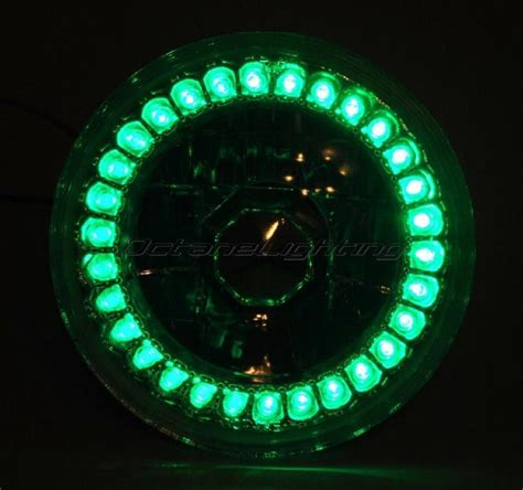 5 3 4 halogen motorcycle green led halo ring h4 light bulb