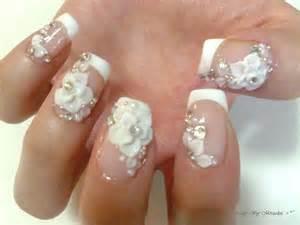 Acrylic nails nail art gems by