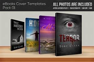 4 ebook cover templates pack 01 templates on creative With free ebook covers templates