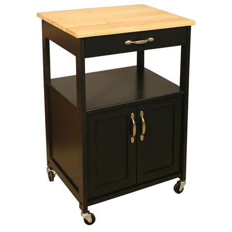 catskill craftsmen black kitchen cart  storage