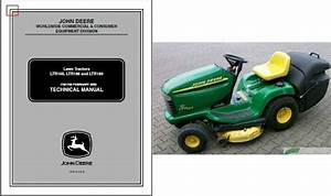 John Deere Ltr155 Ltr166 Ltr180 Lawn And Garden Tractor Service Repair Manual Cd For Sale