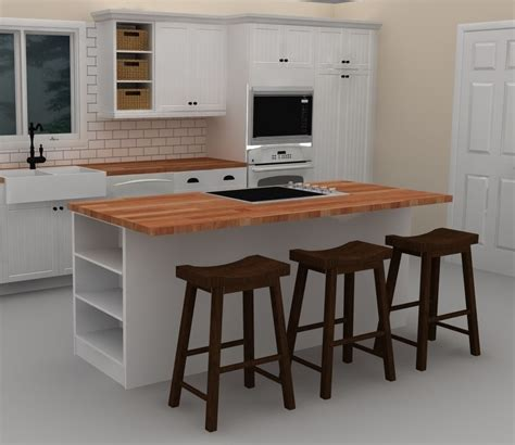 ikea kitchen island with seating this white ikea kitchen island includes a cooktop to