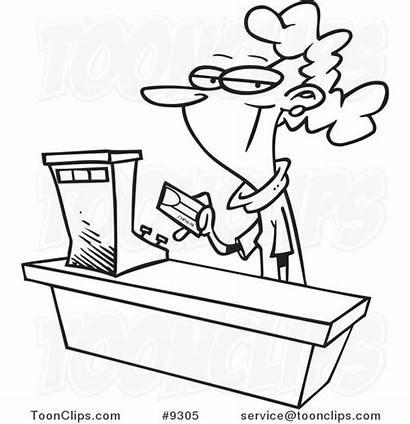 Clerk Cartoon Sales Drawing Clip Female Clipart