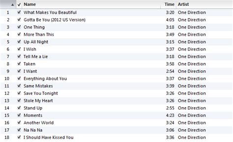One Direction All Songs Gallery