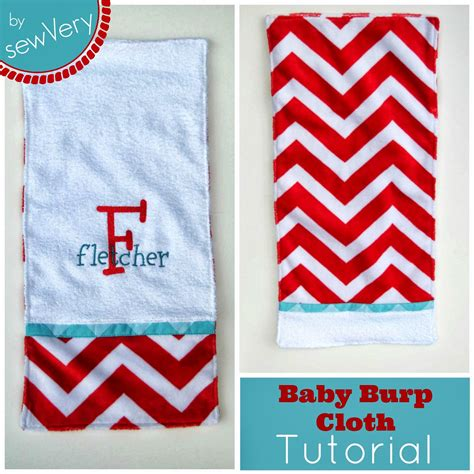 burp cloths sewvery embroidered terry cuddle burp cloth tutorial