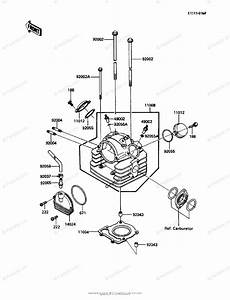 Kawasaki Atv 1986 Oem Parts Diagram For Cylinder Head