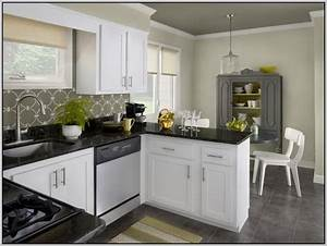 Kitchen colors white cabinets black countertops painting for Kitchen colors with white cabinets with art booth walls