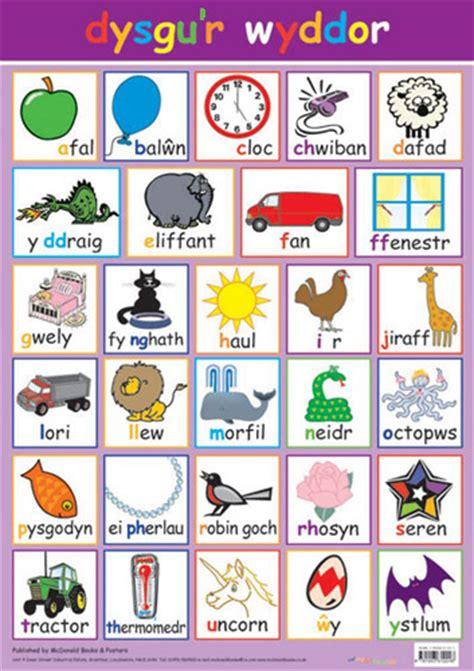 welsh poster dysgur wyddor words alphabet