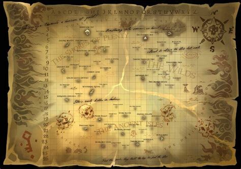 sea  thieves map locations  island   game