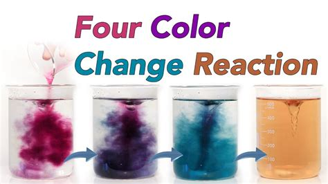color change four colour change reaction chameleon chemical reaction