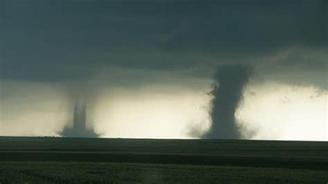 Seattle Area Storm Chaser Gets Dramatic Twin Tornado Video