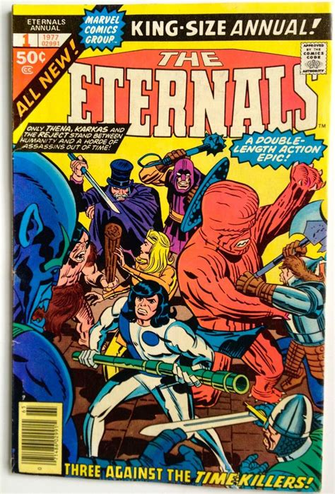 THE ETERNALS ANNUAL #1, 1977 JACK KIRBY MARVEL BRONZE AGE ...
