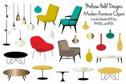 Furniture Clipart Modern Designer Illustrations Follow Designs
