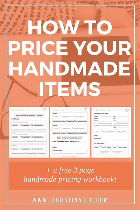 price  handmade items etsy seller tips