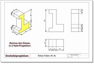 Technische Zeichnung Ansichten : technisches zeichnen dreitafelprojektion ~ Yasmunasinghe.com Haus und Dekorationen