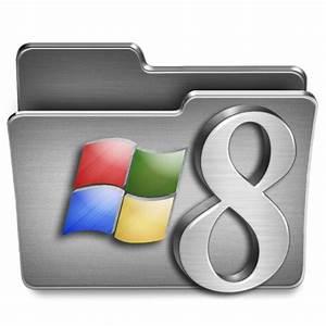 Windows 8 Steel Folder Icon, PNG ClipArt Image   IconBug.com